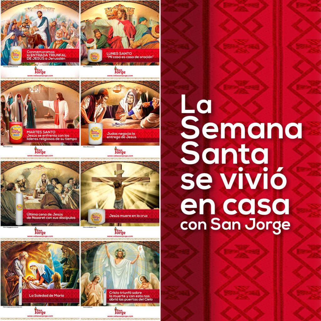 La Semana Santa se vivió en casa con San Jorge